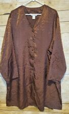 Lane Bryant Cacique Sleepwear Sleep Shirt Gown Plus Sz 22/24 Satin Animal Print