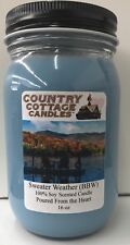16 oz Soy Candle Sweater Weather.Bath & Body Works FREE SHIPPING