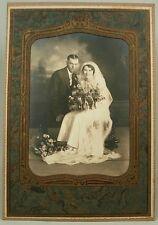 VINTAGE PHOTO WEDDING COUPLE VOIGTLAENDER LAKE CITY MINNESOTA