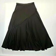 73794267cd Chicos Womens Maxi Skirt Size 1 Black Jersey Flare Long Elastic Waist Tall