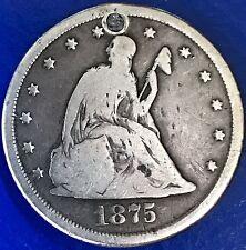 1875 CC Twenty Cent Piece 20c Carson City RARE 5692