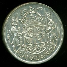 1942 King George VI, Silver Fifty Cent Piece,    I19