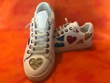 Girls Colors of California Glitter Heart Slip On Shoes Size 35 US 5