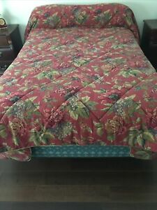 Croscill Floral Comforter Cotton Queen Sized