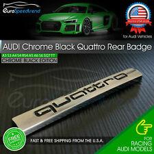 Audi Quattro Chrome Black Emblem 3D Rear Trunk Badge OEM for A3 A4 A5 A6 A8 Q5