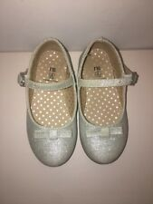 Mothercare Glitter Silver Girl Shoes Size UK5