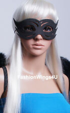 Unisex Black foam mask one size fits most adults and teens cat eye masquerade