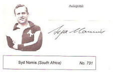 SYD NOMIS SOUTH AFRICA SIGNED RUGBY PHOTO CARD