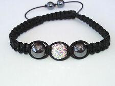Shamballa Bracelet Cristal AB boule disco réglable haute qualité SB8