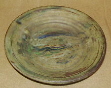 Studio Art Pottery Charger Mid Century Modern Signed
