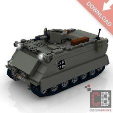 CUSTOM PDF Bauanleitung Bundeswehr MTW M113 Kettenfahrzeug MW für LEGO® Steine