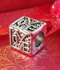 Charm Love Cube Bead Charm Fits European Charm Bracelets Valintines CH111