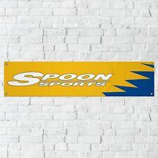Spoon Banner Garage Workshop PVC Sign Trackside Motorsport Honda JDM Car Display