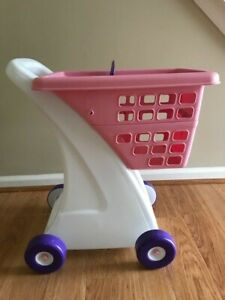 Little Tikes Shopping Cart- pink with purple wheels