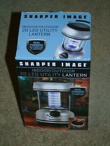 Sharper Image Indoor Outdoor 20 LED Utility Lantern Lamp Cordless New In Box