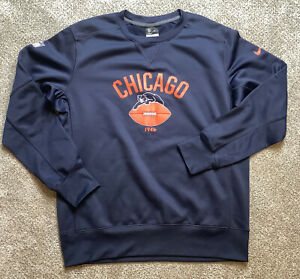NIKE Chicago BEARS Pullover 1946 Vintage Logo NFL On Field Apparel Size Large