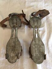 Vintage J C Higgins Metal Roller Skate Leather Straps