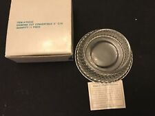 Partylite Pillar Candle Holder Diamond Cut Glass P0332 Retired Vintage Decor