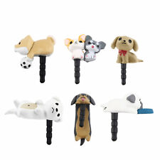 Cute Puppy Dog 3.5mm Anti Dust Earphone Jack Plug Stopper Cap For Phone QR