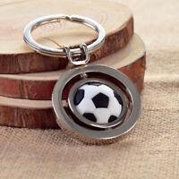 3D Rotating Football Soccer Charm Keychain Men Women Car Key Ring Gift Decor