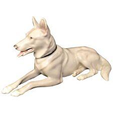 ANTIQUE GEBRUDER HEUBACH GERMAN SHEPHERD DOG LYING FIGURINE GERMANY