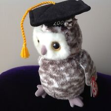 2cde7e98b53 AUTHENTIC TY BEANIE BABIES ~ SMART THE GRADUATION 🎓 OWL WITH MINT TAGS