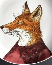 West Elm, Rachel Koslowski Dapper Animals Red Fox Plate