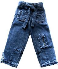 NEU! Mädchen Jeans Hose mit tollen Details und Glitzer Baumwolle 92-98