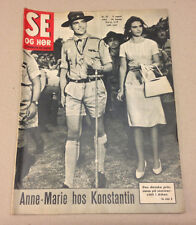 GREEK QUEEN ANNE-MARIE KING CONSTANTINE ROYALS FRONT COVER Danish Magazine 1963.