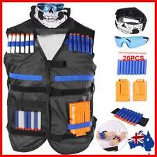 Tactical Vest Kids Toy Gun Clip Jacket Foam Bullet Holder For Nerf N-strike Play