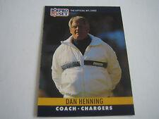 1990 PRO SET FOOTBALL DAN HENNING CARD #283***SAN DIEGO CHARGERS***