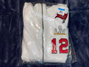 Tom Brady Super Bowl 55 LV Media Day Diamond Hoodie Nike Tampa Bay Buccaneers M