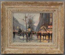 Authentic EDOUARD LEON CORTES French Impressionist Paris Street Oil Painting, NR