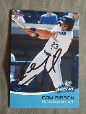 Detroit Tigers Cam Gibson Signed 2017 West Michigan Whitecaps Auto Card