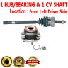 2X Front Left CV Axle Shaft + Wheel Hub Bearing Assembly For JEEP GRAND CHEROKEE