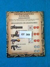 Space Crusade/ Cruzada Estelar - Tarjeta de Armamento - OT369