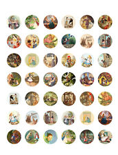 Vintage/ Antique Fairy Tales ~ PRINTABLE Bottle Cap Images ~ 42 Diff. Designs!