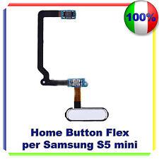 HOME BUTTON FLEX CABLE TASTO per Samsung Galaxy S5 Mini G800F BIANCO PULSANTE