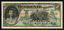 Guatemala 1916-1921, Occidente Quezaltenango 1 Peso, S175b,Original UNC+