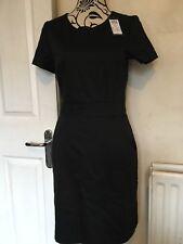 Vero Moda Dress Over Knee Short Sleeve Black Ladies Size M(10-12)new