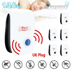 6pcs Ultrasonic Electronic Pest Reject Repeller Anti Mosquito Bug Insect Killer