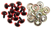 AMBER ORANGE SAFETY EYES SOFT TOY EYES METAL BACKS 10.5 mm Animal Craft  5 sets