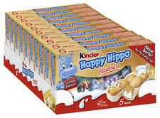 Kinder Happy Hippo HASELNUSS 10 x 5er Pack (= 50 Riegel)  - MHD 01.12.2019