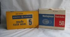 VTG General Electric #5 Sure Fire Bulbs 12pk,  Westinghouse Flash Bulbs 5B 3pk