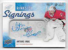 15/16 Upper Deck ICE Rinkside Signings #AI Arturs Irbe On Card Autograph