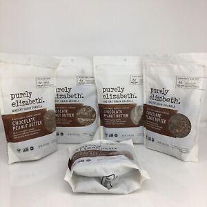 Purely Elizabeth Probiotic Granola Chocolate Peanut Butter 5 Bags EXP:3/17/21