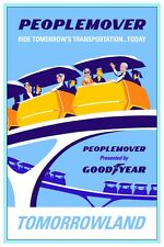 "VINTAGE DISNEY POSTER - TOMORROWLAND PEOPLE MOVER 8.5"" x 11"""