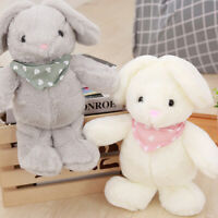 Cute Newborn Bunny Soft Plush Doll Rabbit Stuffed Scarf Baby Kids Sleeping Toys