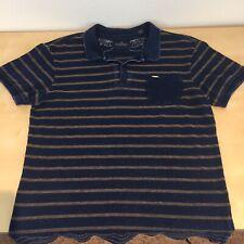 Scotch & Soda Amsterdam Couture Striped Polo Shirt Size Large