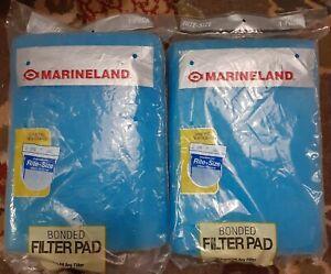 "Lot of 2 Marineland Rite Size Bonded Aquarium Filter Pad Cut to Fit 24"" x 12"""